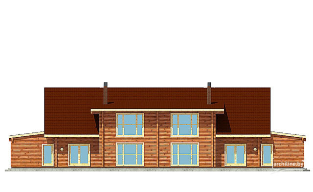 Wooden homes designs 400-500 m²