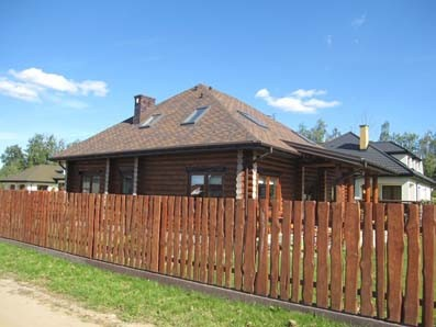 Construction of a one store wooden house in Poland photo report
