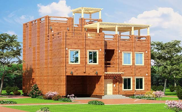 Wood home project and architecture: project in Doha, Qatar