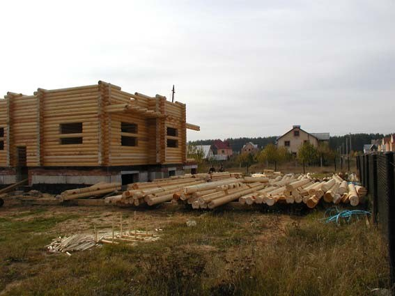 Wooden houses construction