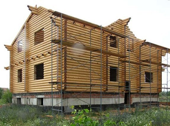 Log homes construction process