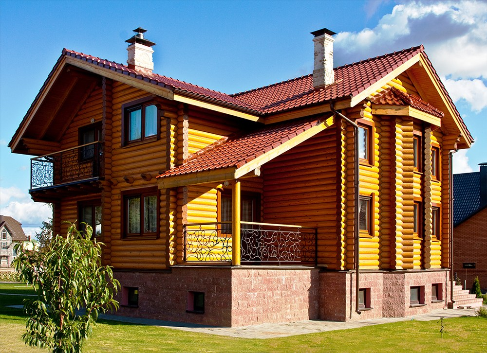 Wooden homes construction and buildings