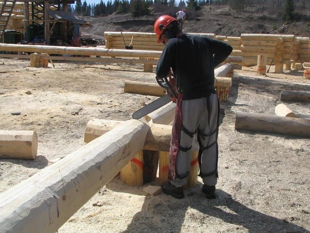 Wooden houses from Canada : construction site
