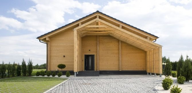 Wooden houses production technology