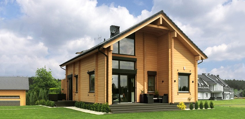 "The project of a house assembled in Poland : wooden house ""Laila"""