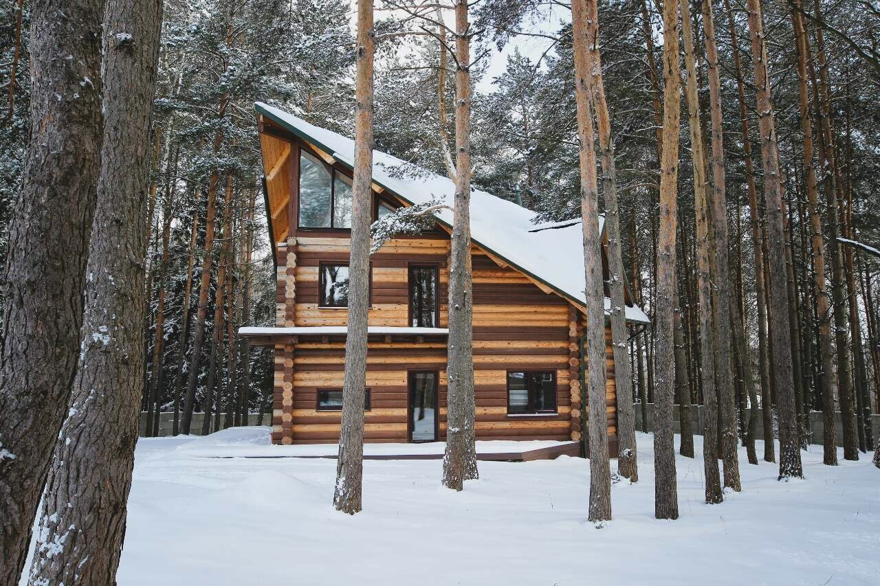 "Wooden house in Canadian style with a terrace - project ""Andrew"""