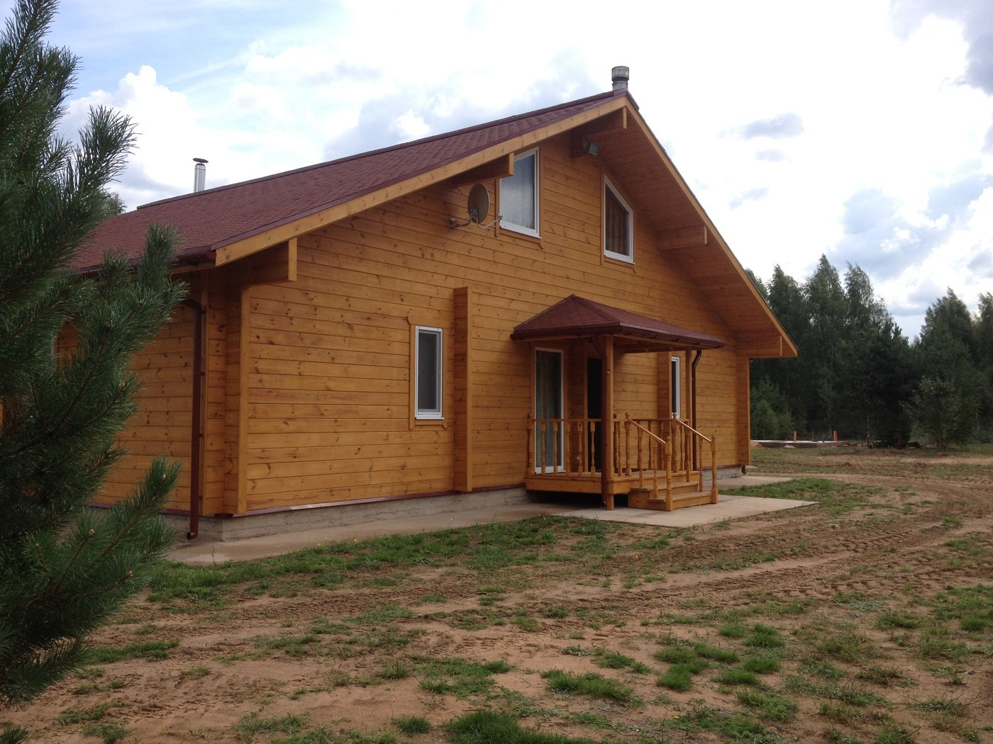 "Wooden house from glued laminated timber 160 mm, project ""Shklov Domostroenie"" 287 m²"