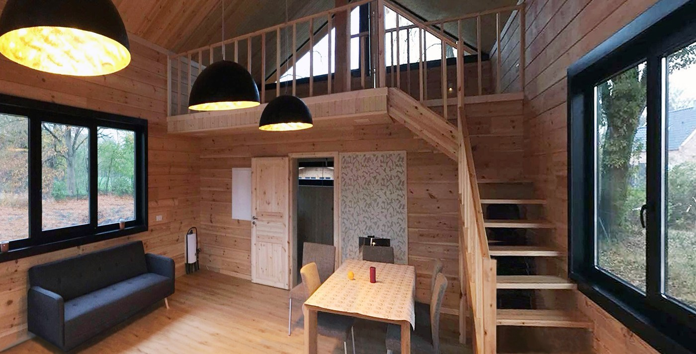 Sauna of glued laminated timber