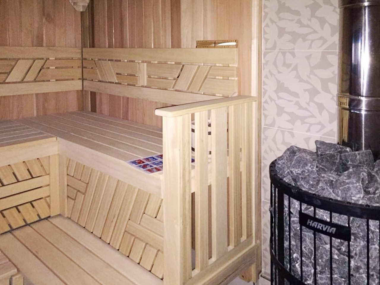 Sauna in a wooden house