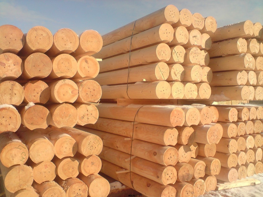 Rounded log Export of wooden houses to India