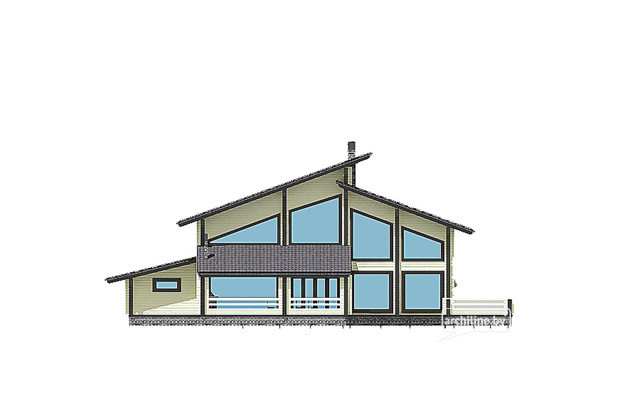 Wooden house designs 400-500 m²
