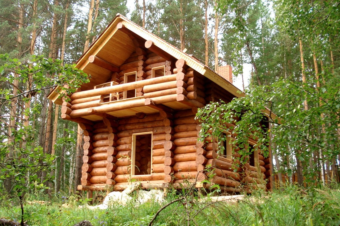 Log cabin or log house. A little history