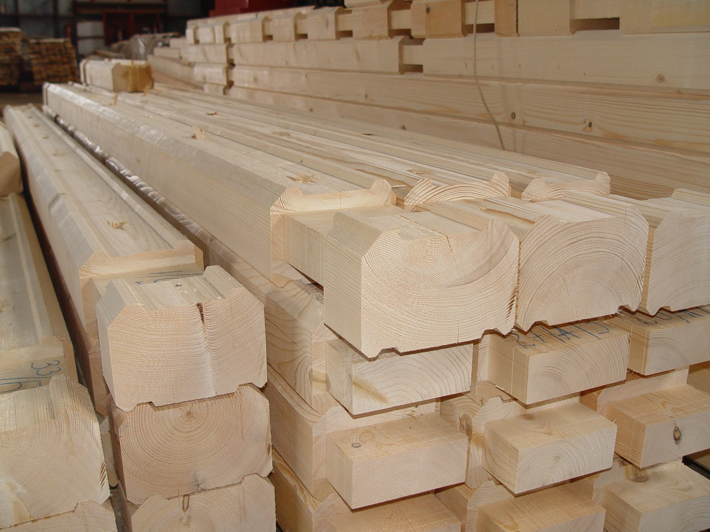 Profiled dry timber