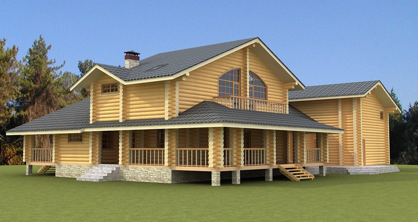 TOP Design of a summer wooden house  Helena