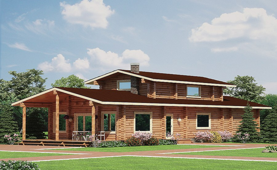 Wooden house plans: Bower wooden homes 174 m²