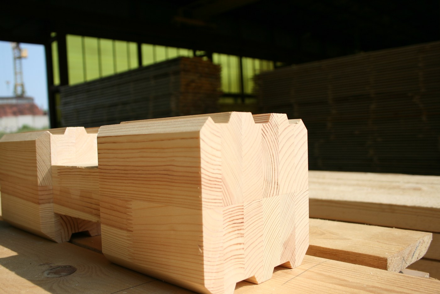 Double glued laminated timber