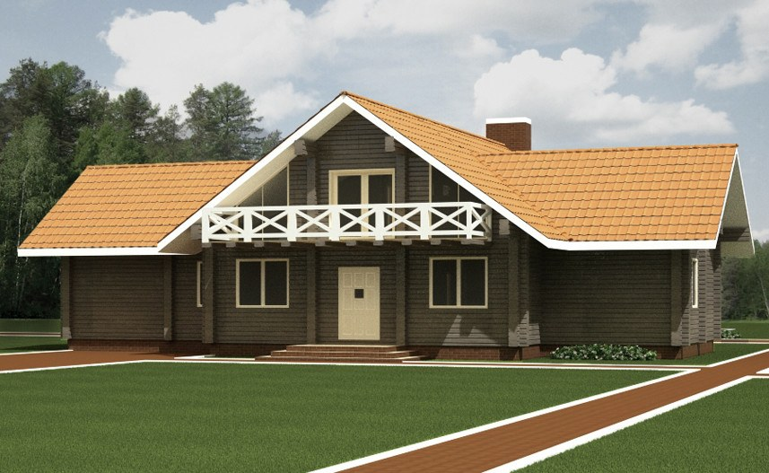 Wooden house plans: Polish log house  Iwona  287 m²