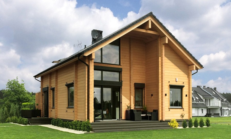 Wooden house plans: Polish wooden home  Sun  164 m²
