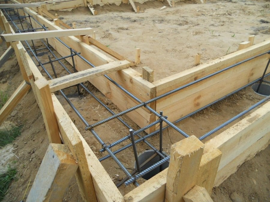 Foundation for the glulam house
