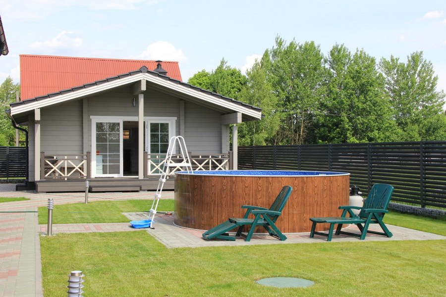 Wooden sauna  Water  65 m²