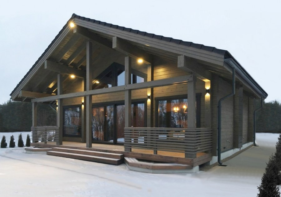 Black wooden house - timber chalet, heating heat pump,  Black Forest  project 164 m²