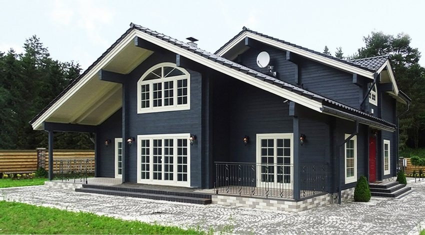 Design of a family wooden house  Olavi