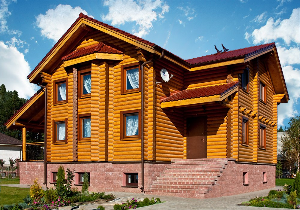 Wooden house  Valtteri  - the project of a house from rounded logs for a big family