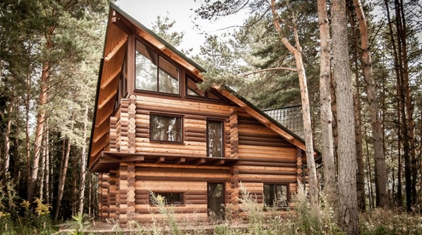 Wooden house  Canada  - the design of a house in country style with modern interior