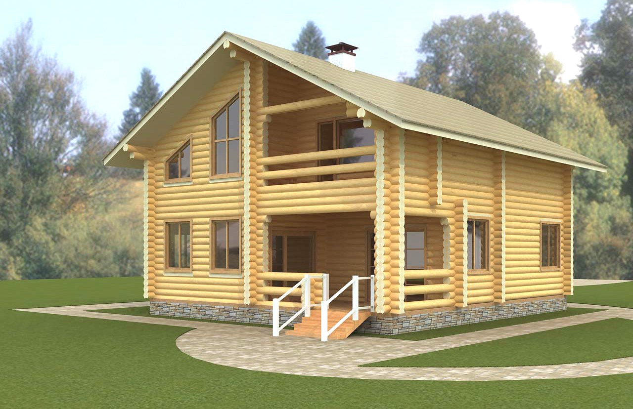 Log home  Matias  - the best variant you can have! Plan of a log home from pine